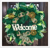 Welcome St. Patrick's Day Green Wreath