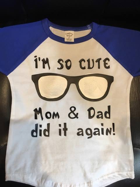 I'm So Cute Raglan Children's Shirt