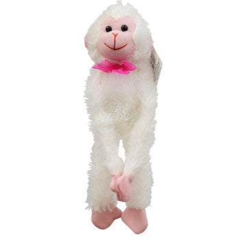 Plush Hanging Valentine Monkeys 12""