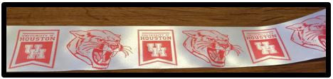 "1"" Satin Ribbon - University of Houston"