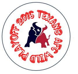 "AFC Wild Playoff Texans - 2.25"" Round Button"