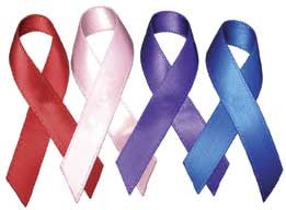 "Awareness Ribbons 3/8"" wide - 150 Pieces"