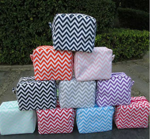 Chevron Make-up Cosmetic Bags