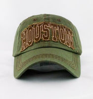 HOUSTON Design Vintage Baseball Caps