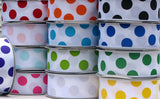 "1-1/2"" PARTY DOT grosgrain ribbon - 25yds"