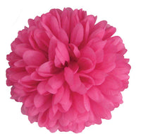 Hot Pink Silk Mum 6.5