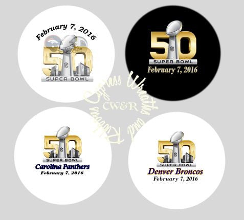 "Superbowl 2016 Buttons - 2.25"" Round Pin On Buttons"
