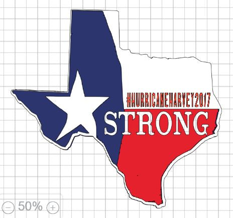 TX Strong - Shirts and Decals #HurricaneHarvey2017 Design