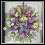 WR2108 - Easter Bunny Head Wreath with Eggs