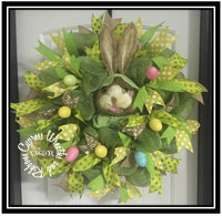 WR2109 - Easter Bunny Head Wreath with Eggs