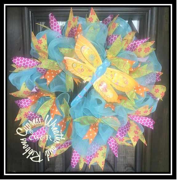 WR2116 Dragonfly Wreath