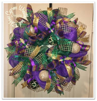 Mardi Gras Color Wreath