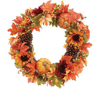 Wreath Sunflower, Pumpkin with Leaves