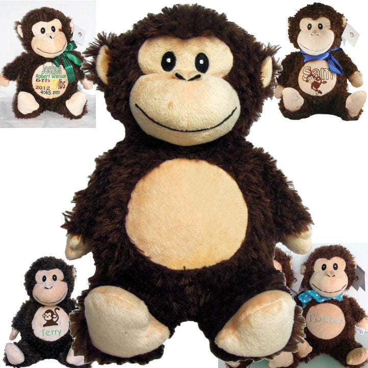 "Baby Cubbies - ""Huggles"" Brown Monkey"