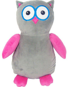 "Baby Cubbies - ""Hooty Lou"" Owl - Grey/Hot Pink"