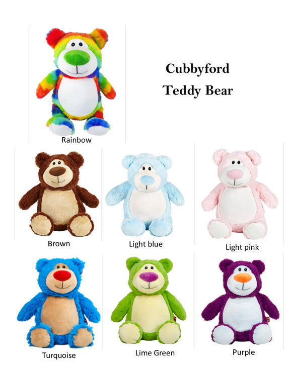 Cubbies Blank - Cubbyford Teddy Bear with Name