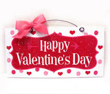 Happy Valentine's Day Wreath and Sign