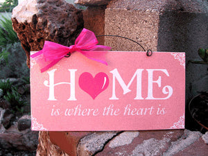 Home Is Where The Heart Is Wreath and Sign
