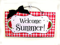 Wreath and Sign - Welcome Summer