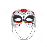Day of the Dead Half Mask – Red/Green/ Black