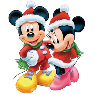 "Mickey and Minnie Christmas 2.25"" Round Button"