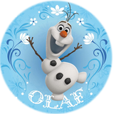 "Olaf Ice Skating 2.25"" Round Button"