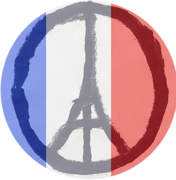 "Peace for Paris 2.25"" Round Button"