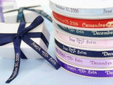 100 Personalized Favors Printed Ribbon 3/8""