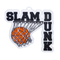Slam Dunk Charm – 3″ – Black – 1 pc. pkg.