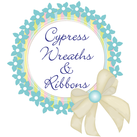 Cypress Wreaths and Ribbons