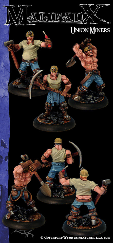 Malifaux Classics: Union Miner (3 Pack) - Wyrd Miniatures - Online Store