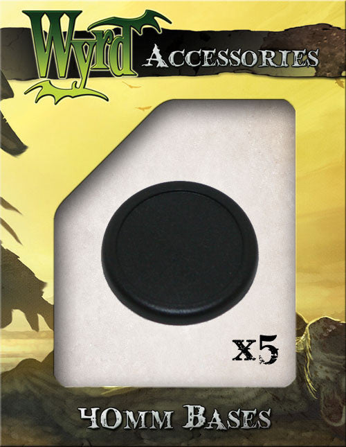 40mm Premium Plastic Bases (5 pack) - Wyrd Miniatures - Online Store