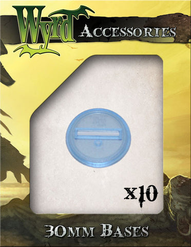Blue 30mm Translucent Bases  (10 pack) - Wyrd Miniatures - Online Store
