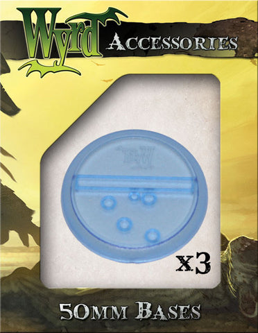 Blue 50mm Translucent Bases  (3 pack)