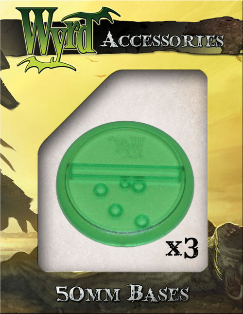 Green 50mm Translucent Bases  (3 pack) - Wyrd Miniatures - Online Store