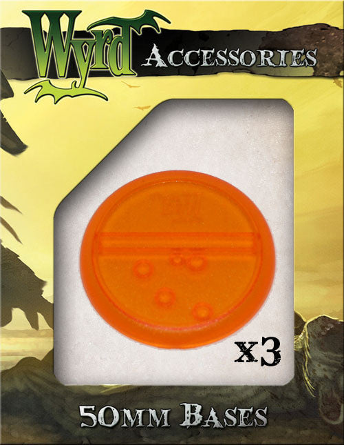 Orange 50mm Translucent Bases  (3 pack) - Wyrd Miniatures - Online Store