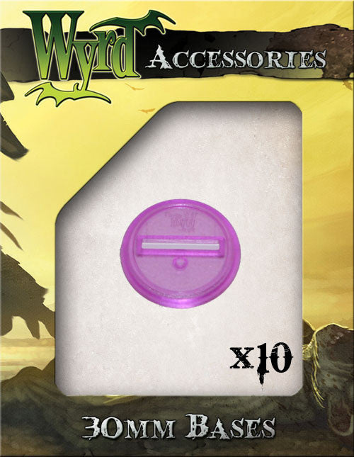 Purple 30mm Translucent Bases  (10 pack) - Wyrd Miniatures - Online Store