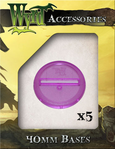 Purple 40mm Translucent Bases  (5 pack)