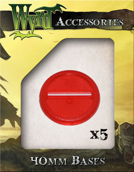 Red 40mm Translucent Bases  (5 pack)