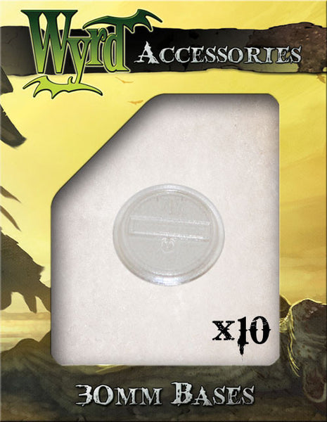 Clear 30mm Translucent Bases  (10 pack) - Wyrd Miniatures - Online Store