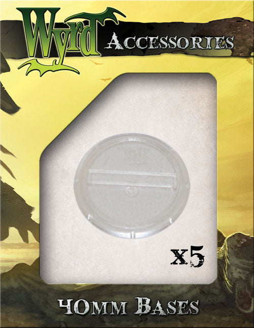 Clear 40mm Translucent Bases  (5 pack) - Wyrd Miniatures - Online Store