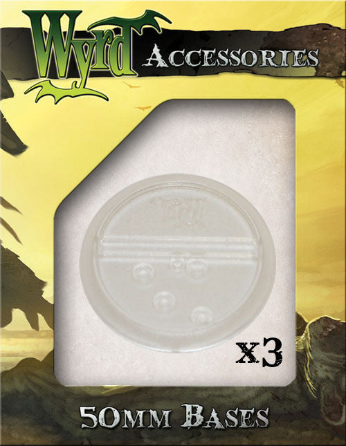 Clear 50mm Translucent Bases  (3 pack) - Wyrd Miniatures - Online Store