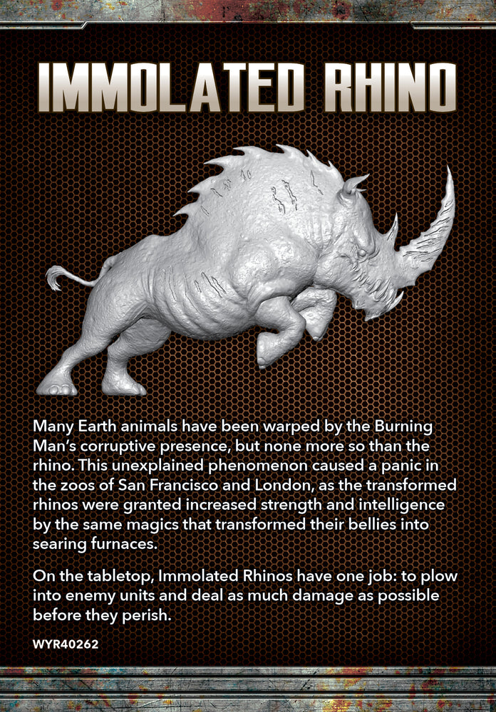 Load image into Gallery viewer, Immolated Rhino - Wyrd Miniatures - Online Store