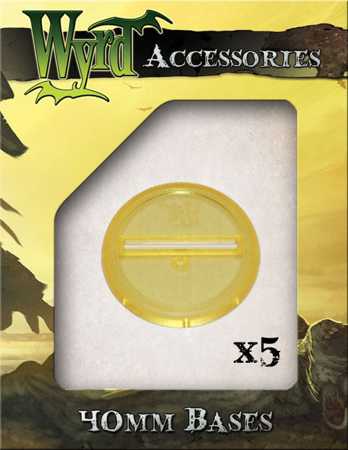 Gold 40mm Translucent Bases  (5 pack) - Wyrd Miniatures - Online Store