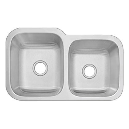 DiMonte 60/40 Double Bowl Sink G-322R