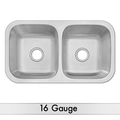 DiMonte 16 Gauge 50-50 Sink G-319 - Mr. Stone, LLC