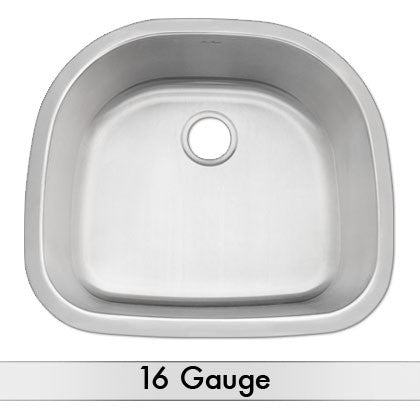 DiMonte 16 Gauge D-Shaped Sink M-249
