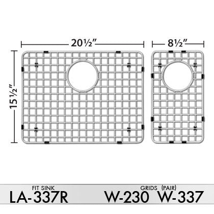 DiMonte W-337/W-230 Grids (fits sink LA-337L) - Mr. Stone, LLC