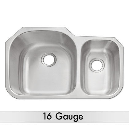 DiMonte 16 Gauge 70/30 Sink M-321B - Mr. Stone, LLC