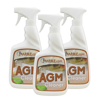 AGM Granite and Marble Countertop Cleaner :  3-Pack - Mr. Stone, LLC